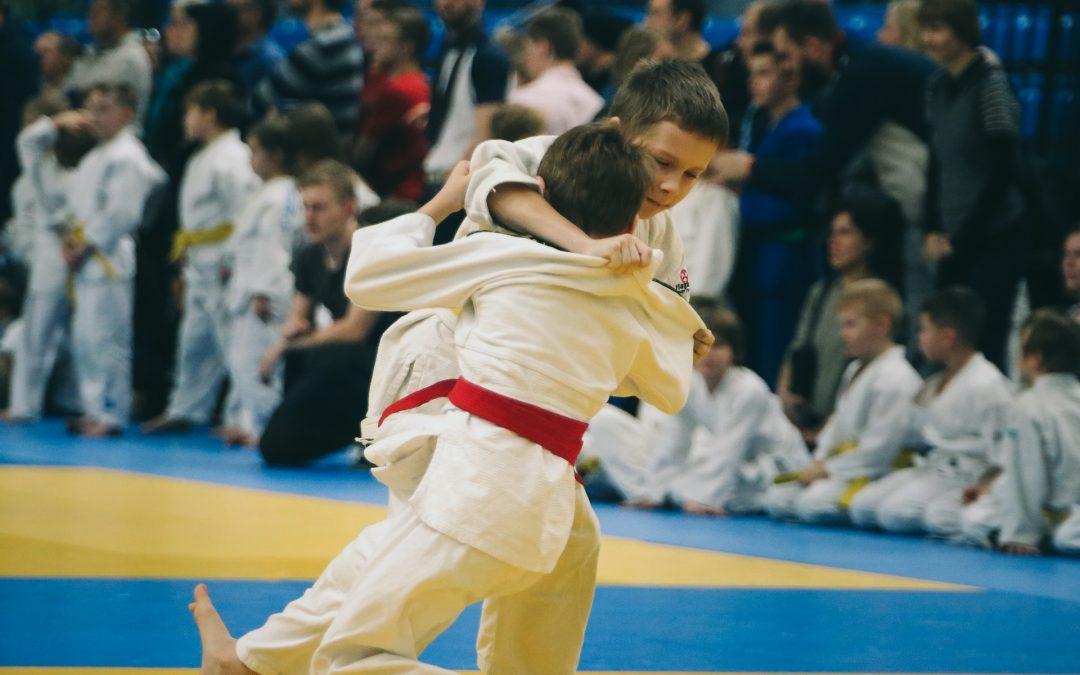 Mehr dunkle Farben auf der Judo-Matte