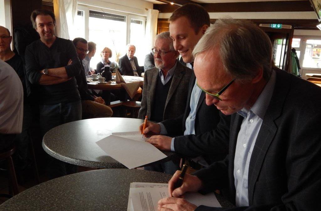 Unterzeichnung Nutzungsvertrag